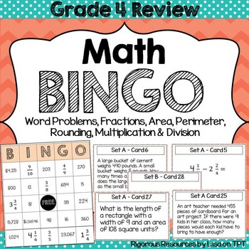 End of Year Math BINGO Grade 4