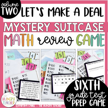 Math Review Game for 6th Grade Common Core {VERSION 2-Deal