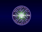 Math Review Powerpoint Game: Who Wants to Be a Millionaire