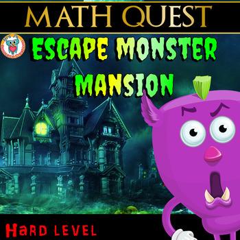 Math Review Quest - Escape Monster Mansion (HARD)