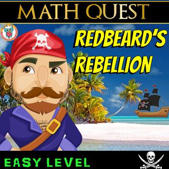 Math Review Quest - Redbeard's Rebellion (EASY LEVEL)