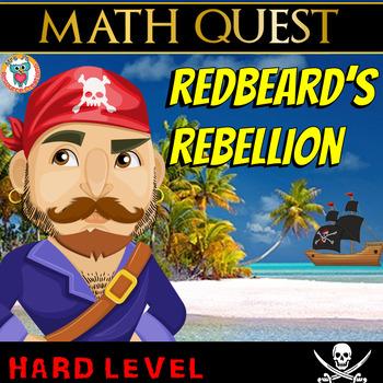 Math Review Quest  - Redbeard's Rebellion (HARD)