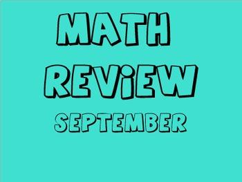 Math Review - September