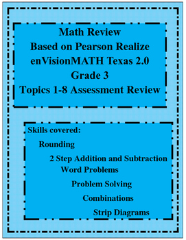 Math Review based on Pearson Grade 3 Topics 1-8 Assessment Review
