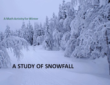 Math Review with Snowfall Stories - A Perfect Activity for