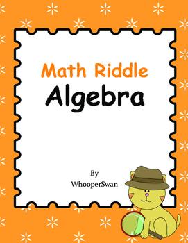 Math Riddle: Algebra
