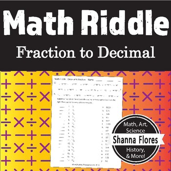 Math Riddle - Decimals to Fractions - Fun Math