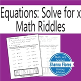Math Riddle - Equation - Solve for x - Fun Math