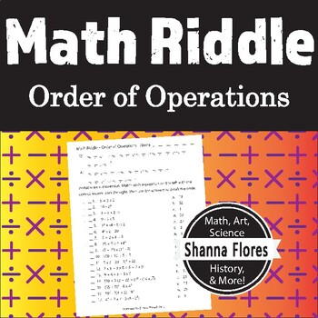 Math Riddle - Order of Operations - Fun Math