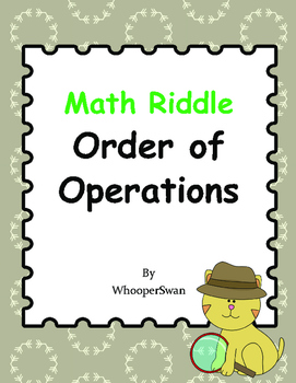 Math Riddle: Order of Operations