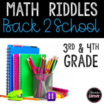 Back to School Math Worksheets