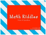 Math Riddles: Order of Operations