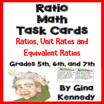 Ratios, Unit Rates and Equivalent Ratios Task Cards
