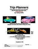 Math Role-Playing Game (Trip Planners): Travel Cards 1-20