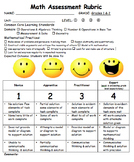 Math Rubric (Common Core Based)