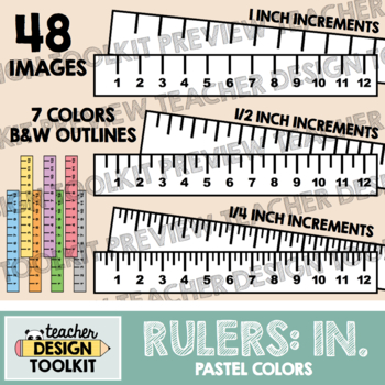 Rulers Clip Art: Inches