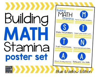 Math STAMINA Posters (Blue & Yellow)
