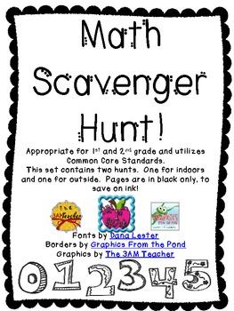 Math Scavenger Hunt {Freebie}