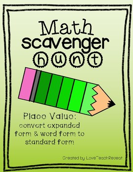 Math Scavenger Hunt: Place Value