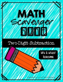 Math Scavenger Hunt: Two-Digit Subtraction (with and witho