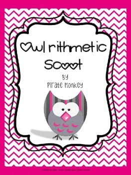 Math Scoot Subtraction and Addition Problem Solving by Pir