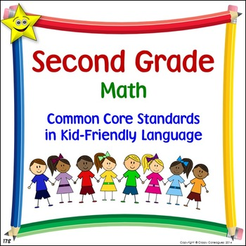 Math Second Grade Common Core Standards Posters in Kid-Fri
