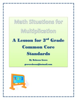 Math Situations for Multiplication
