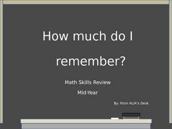 Math Skills Review Mid-Year