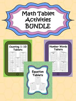 Math Skills Tablets {BUNDLE}