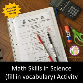 Math Skills in Science (fill in vocabulary)