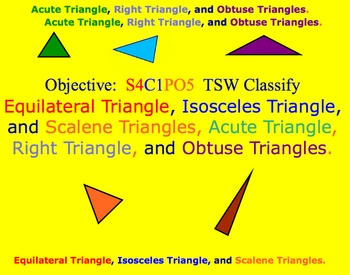 Math Smartboard Lesson Comparing Types of Triangles