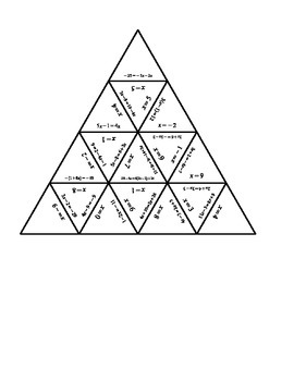 Math - Solving Intermediate Algebraic Expressions - Puzzle