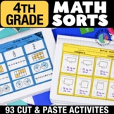 Math Sorts - 4th Grade ALL Standards