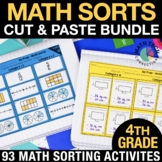 Math Sorts - 4th Grade Math Centers