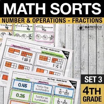 Math Sorts - Fractions