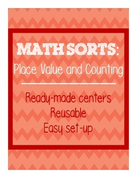 Math Sorts - Place Value and Counting (Reusable Self-Check