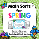 Math Sorts for Spring