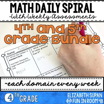 Math Spiral Review- 4th and 5th Grade Bundle!