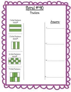 Math Spiral Review Week 10