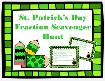 St. Patrick's Day Fractions Scavenger Hunt