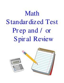 Math Standardized Test Prep Spiral Review 1st 9 Weeks
