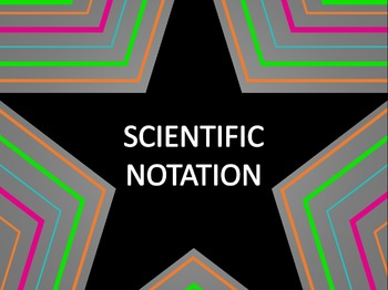 Math Star Review Game - Scientific Notation