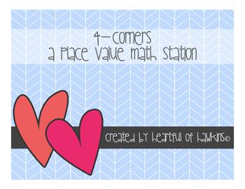 Place Value Math Station - 4 Corners