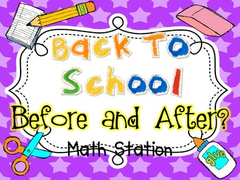 Math Station Before and After {Back To School}