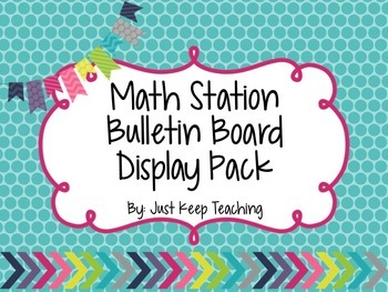 Math Station Display- Bright Chevron, Bulletin Board Displ