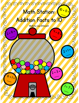Math Station - Math Facts Addition to 10