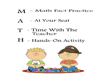 Math/Reading Center Posters