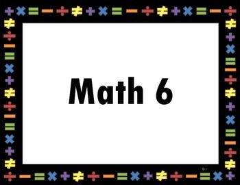 Math Station Posters