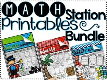 Math Station Printable Bundle