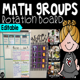Editable Math Station Rotation Board